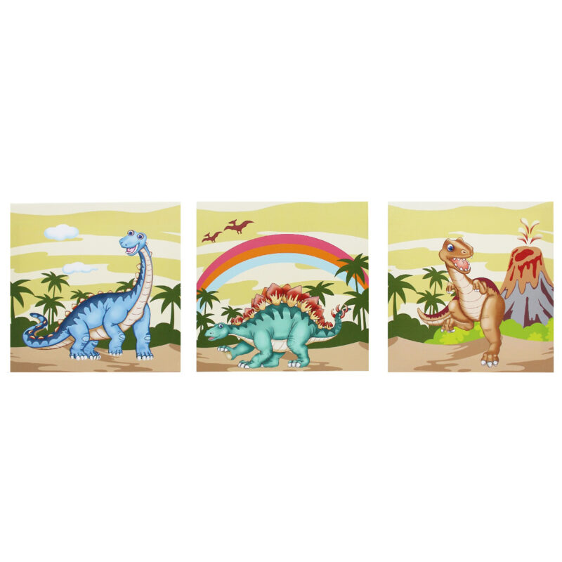 Fantasy Fields by Teamson Dinosaur Kingdom Childrens Wooden Wall Height Growth Chart Gift TD-0071A